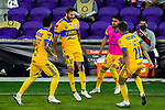 Andre-Pierre Gignac of Tigres UANL (MEX) celebrates after scoring the victory goal against Los Angeles FC (USA) during their CONCACAF Champions League Final match at the Orlando's Exploria Stadium on 22 December 2020, in Florida, USA. Photo by Victor Fraile / Power Sport Images