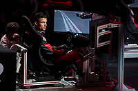 Cristiano Ronaldo of Real Madrid CF races in his simulated Formula-e car during a race with his teammates during the Audi Handover Sponsorship deal with Real Madrid at the Ciudad Deportivo training grounds in Madrid, Spain. November 23, 2017. (ALTERPHOTOS/Borja B.Hojas) /NortePhoto.com NORTEPHOTOMEXICO