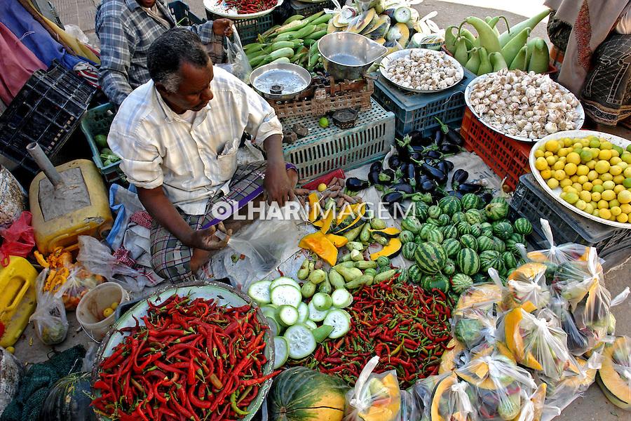 Mercado de alimentos na cidade de Seyun. Yemen. 2008. Foto de Caio Vilela.