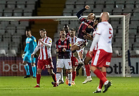 Bolton Wanderers' Antoni Sarcevic celebrates victory at the end of the match<br /> <br /> Photographer Andrew Kearns/CameraSport<br /> <br /> The EFL Sky Bet League Two - Stevenage v Bolton Wanderers - Saturday 21st November 2020 - Lamex Stadium - Stevenage<br /> <br /> World Copyright © 2020 CameraSport. All rights reserved. 43 Linden Ave. Countesthorpe. Leicester. England. LE8 5PG - Tel: +44 (0) 116 277 4147 - admin@camerasport.com - www.camerasport.com