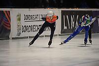 SPEEDSKATING: DORDRECHT: 06-03-2021, ISU World Short Track Speedskating Championships, SF 3000m Relay, Selma Poutsma (NED), Martina Valcepina (ITA), ©photo Martin de Jong