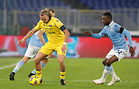 Hellas Verona s Antonin Barak, left, is challenged by Lazio s Jean-Daniel Akpa Akpro during the Serie A soccer match between Lazio and Hellas Verona at Rome's Olympic Stadium, December 12, 2020.<br /> UPDATE IMAGES PRESS/Riccardo De Luca