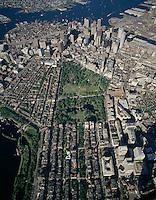 Aerial view, Boston common, Boston, MA