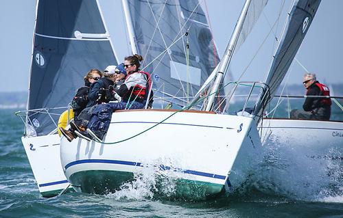 Nip and tuck in Beneteau 21 class racing on Dublin Bay
