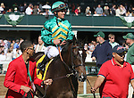 April 11, 2015:  Ball Dancing and jockey Javier Castellano win the 27th running of The Jenny WIley Grade 1 $300,000 at Keeneland Race Course for owner W. Farish and Steve Mooney and trainer Chad Brown .   Candice Chavez/ESW/CSM