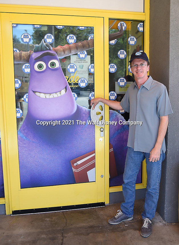 """STUDIO CITY, CA - JUNE 30: Executive Producer Bobs Gannaway attends the DISNEY + original series """"Monsters at Work"""" takeover of Lemonade restaurant on June 30, 2021 in Studio City, California. Monsters at Work will start streaming on Disney + on July 7 with new episodes every Wednesday. (Photo by Frank Micelotta/Disney +/PictureGroup)"""