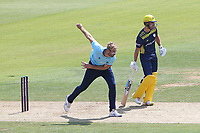 Paul Walter in bowling action for Essex during Hampshire Hawks vs Essex Eagles, Royal London One-Day Cup Cricket at The Ageas Bowl on 22nd July 2021