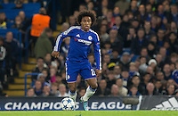 Willian of Chelsea on the ball during the UEFA Champions League Group G match between Chelsea and Dynamo Kyiv at Stamford Bridge, London, England on 4 November 2015. Photo by Andy Rowland.