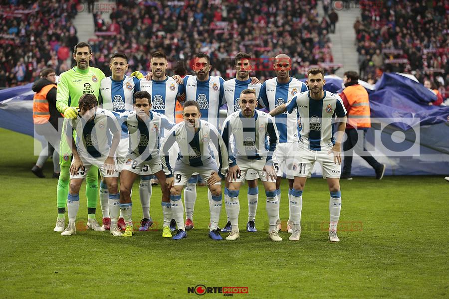 RCD Espanyol's team photo during La Liga match between Atletico de Madrid and RCD Espanyol at Wanda Metropolitano Stadium in Madrid, Spain. December 22, 2018. (ALTERPHOTOS/A. Perez Meca) /NortEPhoto.com