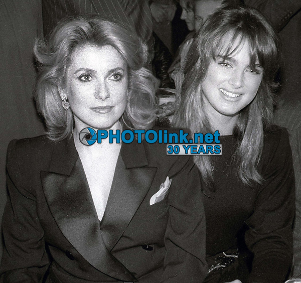 Catherine Deneuve and Brooke Shields 1978<br /> Photo By Adam Scull/PHOTOlink.net