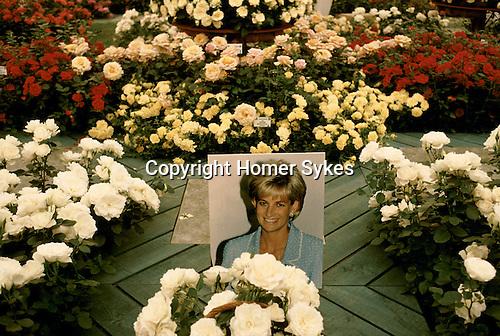 Chelsea Flower Show, Princess Diana tribute display. 1997.