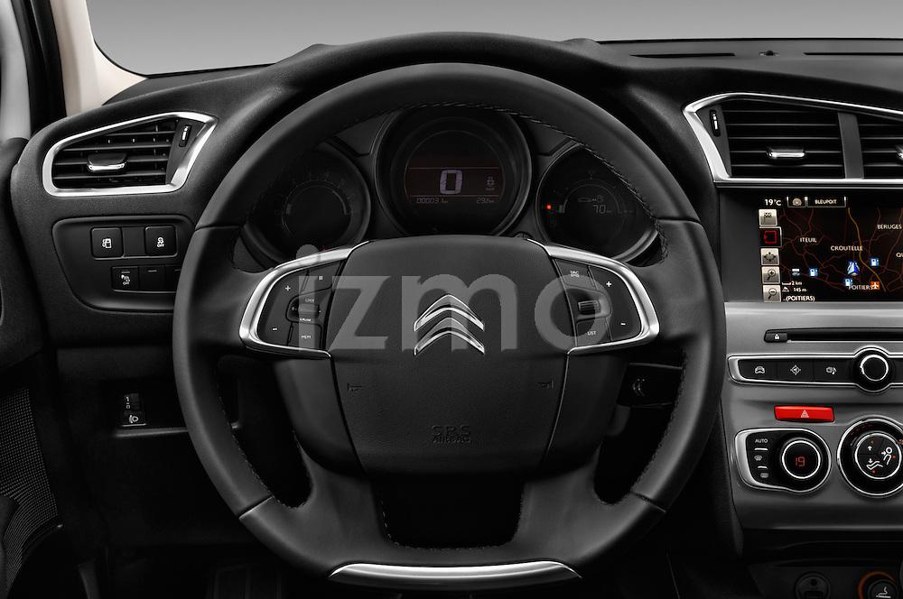 Car pictures of steering wheel view of a 2016 Citroen C4 Feel 5 Door Hatchback Steering Wheel