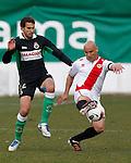 Madrid (03/03/2012).-Campo de Futbol de Vallecas..Liga BBVA..Rayo Vallecano-Real Racing Club..Stuani, Movilla...©Alex Cid-Fuentes.......