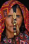 Portrait of a Meghwal woman, Gujarat, India