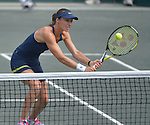 Martina Hingis (SUI), with partner Sania Mirza (IND), wins in the finals at the Family Circle Cup in Charleston, South Carolina on April 12, 2015.