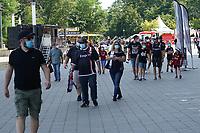 Eintracht Frankfurt erwartet 25.000 Fans - Frankfurt 21.08.2021: Eintracht Frankfurt vs. FC Augsburg, Deutsche Bank Park, 2. Spieltag Bundesliga