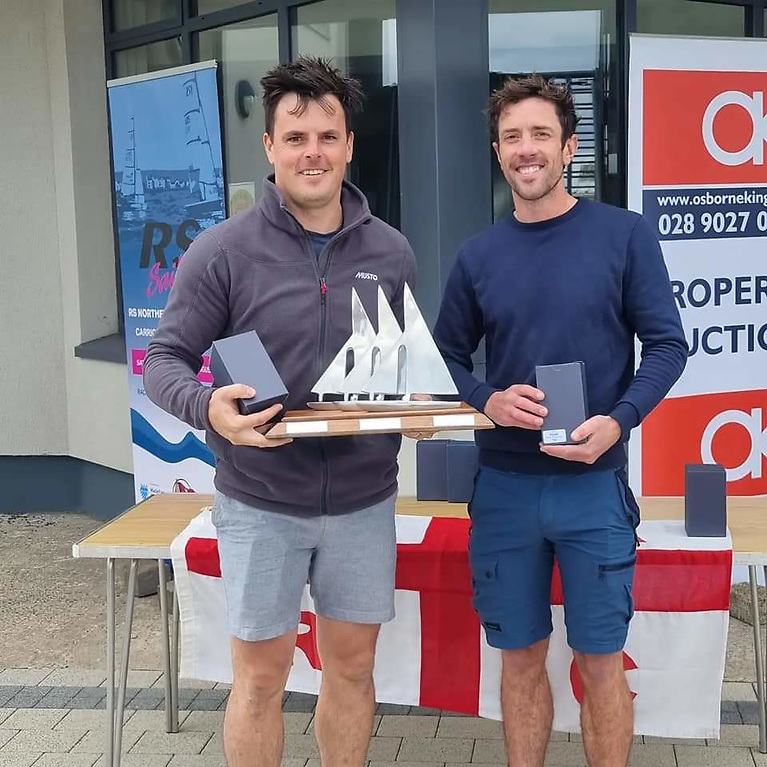 Robert Espey and Richard Mc Cullough were the overall winners of the RS400 Northern Championships