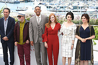PAOLO SORRENTINO, PEDRO ALMODOVAR, WILL SMITH, JESSICA CHASTAIN, FAN BINGBING AND AGNES JAOUI - PHOTOCALL OF JURY AT THE 70TH FESTIVAL OF CANNES 2017