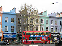 Colorful Notting Hill neighborhood of London