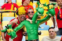 Belgium fans in fancy dress