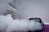 #16: Austin Hill, Hattori Racing Enterprises, Toyota Tundra Hino, AISIN Group celebrates with a burnout after winning