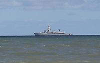 Marineschiff in der Nordsee - Wangerooge 20.07.2020: Flug nach Wangerooge