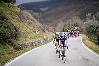 Xandro Meurisse (BEL/Alpecin-Fenix) taking the peloton for a stroll<br /> <br /> Stage 3 from Monticiano to Gualdo Tadino (219km)<br /> <br /> 56th Tirreno-Adriatico 2021 (2.UWT) <br /> <br /> ©kramon