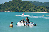Jetski boy waiting for tourists in Langkawi, Malaysia