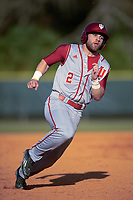 Indiana Hoosiers left fielder Alex Krupa (2) during a game against the Illinois State Redbirds on March 4, 2016 at North Charlotte Regional Park in Port Charlotte, Florida.  Indiana defeated Illinois State 14-1.  (Mike Janes/Four Seam Images)