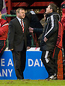 :: HAMILTON MANAGER BILLY REID COMPLAINS TO FOURTH OFFICIAL STEVE CONROY ::