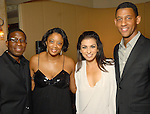 From left: Sterling Carter and Denise Furlough with Sharon Aboussleman and Errol McLaughlin at the Health Museum Casino Party at the Four Seasons Hotel Saturday Aug. 15, 2009.(Dave Rossman/For the Chronicle)