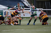 Jonny Law of Ampthill RUFC during the Greene King IPA Championship match between Ealing Trailfinders and Ampthill RUFC being played behind closed doors due to the COVID-19 pandemic restrictions at Castle Bar , West Ealing , England  on 13 March 2021. Photo by Alan Stanford / PRiME Media Images