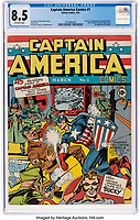 Rare comic showing Captain America punching Adolf Hitler has sold for a staggering £275,000.