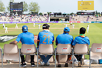 Indian fans watch on as the New Zealand response gradually reduces the chase during India vs New Zealand, ICC World Test Championship Final Cricket at The Hampshire Bowl on 23rd June 2021