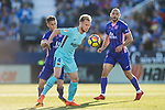 Ivan Rakitic of FC Barcelona (C) fights for the ball with Alexander Szymanowski of CD Leganes (L) during the La Liga 2017-18 match between CD Leganes vs FC Barcelona at Estadio Municipal Butarque on November 18 2017 in Leganes, Spain. Photo by Diego Gonzalez / Power Sport Images