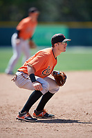 Baltimore Orioles Chris Clare (21) during a minor league Spring Training game against the Tampa Bay Rays on March 29, 2017 at the Buck O'Neil Baseball Complex in Sarasota, Florida.  (Mike Janes/Four Seam Images)