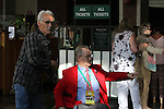 June 7, 2014: Ron Turcotte (red jacket), the jockey who rode Secretariat to his Triple Crown win, is among those at Belmont Park on Saturday. Scene at Belmont Park on the morning of the Belmont Stakes, Elmont, NY ©Joan Fairman Kanes/ESW/CSM