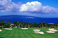 Hole No. 18 of the Wailea Emerald golf course on Maui
