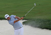 29th August 2021; Owens Mills, Maryland, USA;  Matt Jones (AUS) watches his shot from the bunker on the 9th hole during the final round of the BMW Championship on August 29, 2021, at Caves Valley Golf Club in Owings Mills, MD.