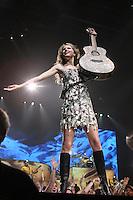 Taylor Swift performs in concert at the John Paul Jones arena.