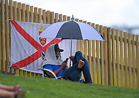 A fan watches from the embankment during day five of the international cricket 2nd test match between NZ Black Caps and England at Seddon Park in Hamilton, New Zealand on Tuesday, 3 December 2019. Photo: Dave Lintott / lintottphoto.co.nz