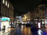 BNPS.co.uk (01202 558833)<br /> Pic: PhilYeomans/BNPS<br /> <br /> Not working - Old Christchurch Road in Bournemouth - three strands of light of which only two are working...<br /> <br /> Are these Britain's worst Christmas lights?<br /> <br /> Traders have slammed a council's 'horrible' Christmas lights on a high street at a seaside resort.<br /> <br /> The underwhelming display features three sorry strands of lights which hang above a road in Bournemouth, Dorset.<br /> <br /> They say that one of the strands of lights, which are nearly 20 years old, does not work.<br /> <br /> Shop owners on the stretch of road have labelled them 'unacceptable' in light of the hefty business rates they pay to Bournemouth, Christchurch and Poole Council (BCP).