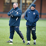 Ally McCoist and Kenny McDowall after sorting out a difference of opinions