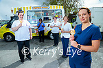 An Ice cream van was on hand to celebrate International Day of the Midwife & Nurse for Maternity Services UHK on Wednesday, from left: Sinead O'Connell, Ophelia Osei, Aileen Jinks, Eileen Healy and Sharon Breen.