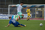 11.10.2020, Marschwegstadion, Oldenburg, GER, RL Nord,, Gruppe Süd VfB Oldenburg vs SV Werder Bremen U23,  DFL regulations prohibit any use of photographs as image sequences and/or quasi-video, im Bild<br /> Kyu-Hyun PARK (SV Werder Bremen U23 #22 ) Dennis ENGEL (VfB Oldenburg #22 )<br /> <br /> Foto © nordphoto / Rojahn