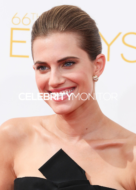 LOS ANGELES, CA, USA - AUGUST 25: Actress Allison Williams arrives at the 66th Annual Primetime Emmy Awards held at Nokia Theatre L.A. Live on August 25, 2014 in Los Angeles, California, United States. (Photo by Celebrity Monitor)