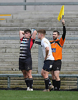 Wednesday 6th March 2019   Ulster Schools Cup - Semi Final 2<br /> <br /> Dillon Sedge during the Ulster Schools Cup semi-final between MCB and Wallace High School at Kingspan Stadium, Ravenhill Park, Belfast, Northern Ireland. Photo by John Dickson / DICKSONDIGITAL
