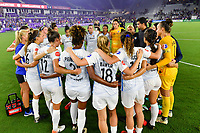Orlando, FL - Saturday July 20, 2019:   Sky Blue FC during a regular season National Women's Soccer League (NWSL) match between the Orlando Pride and the Sky Blue FC at Exploria Stadium.
