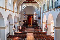 Interior of Knowles Memorial Chapel, Rollins College, Winter Park, Florida, USA.