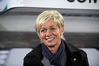 Germany Head Coach Silvia Neid. US Women's National Team defeated Germany 1-0 at Impuls Arena in Augsburg, Germany on October 29, 2009.